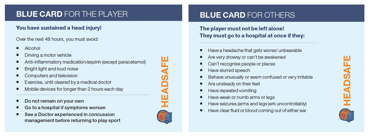 Headsafe Blue card
